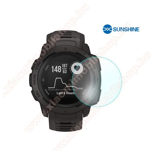 SUNSHINE Hydrogel TPU okosóra képernyővédő fólia - Ultra Clear, ÖNREGENERÁLÓ! - 1db, a teljes képernyőt védi - Garmin Instinct / Garmin Instinct Solar - GYÁRI