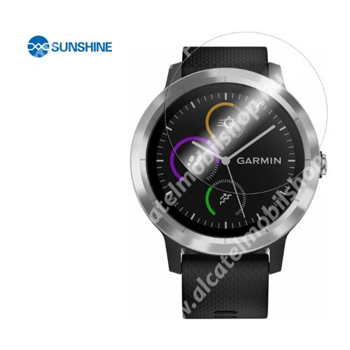 SUNSHINE Hydrogel TPU okosóra képernyővédő fólia - Ultra Clear - 1db, a teljes képernyőt védi - Garmin Vivoactive 3 - GYÁRI