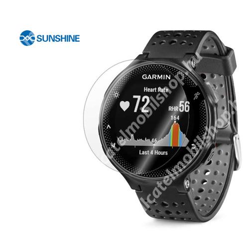 SUNSHINE Hydrogel TPU okosóra képernyővédő fólia - Ultra Clear - 1db, a teljes képernyőt védi - Garmin Forerunner 225 / 235 / 620 / 630 - GYÁRI