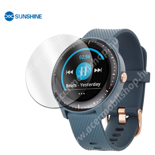 SUNSHINE Hydrogel TPU okosóra képernyővédő fólia - Ultra Clear - 1db, a teljes képernyőt védi - Garmin Vivoactive 3 Music - GYÁRI