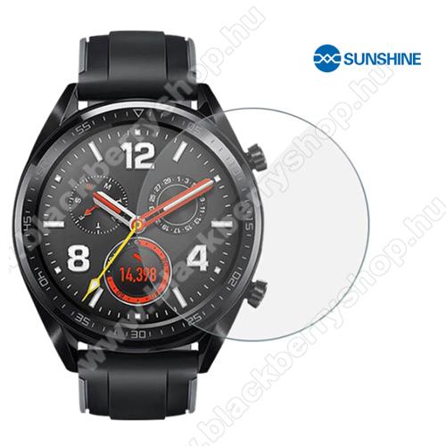 SUNSHINE Hydrogel TPU okosóra képernyővédő fólia - Ultra Clear, ÖNREGENERÁLÓ! - 1db, a teljes képernyőt védi - HUAWEI Watch GT 46mm - GYÁRI