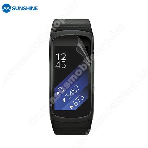 SUNSHINE Hydrogel TPU okosóra képernyővédő fólia - Ultra Clear, ÖNREGENERÁLÓ! - 1db, a teljes képernyőt védi - SAMSUNG Gear Fit 2 SM-R360 / Samsung Gear Fit 2 Pro SM-R365 - GYÁRI