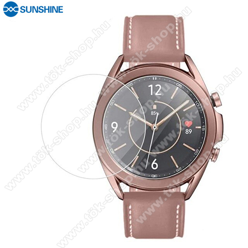SUNSHINE Hydrogel TPU okosóra képernyővédő fólia - Ultra Clear, ÖNREGENERÁLÓ! - 1db, a teljes képernyőt védi - SAMSUNG Galaxy Watch3 41mm (SM-R855F) - GYÁRI