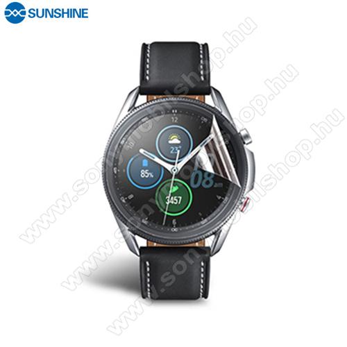 SUNSHINE Hydrogel TPU okosóra képernyővédő fólia - Ultra Clear, ÖNREGENERÁLÓ! - 1db, a teljes képernyőt védi - SAMSUNG Galaxy Watch3 45mm (SM-R845F) - GYÁRI
