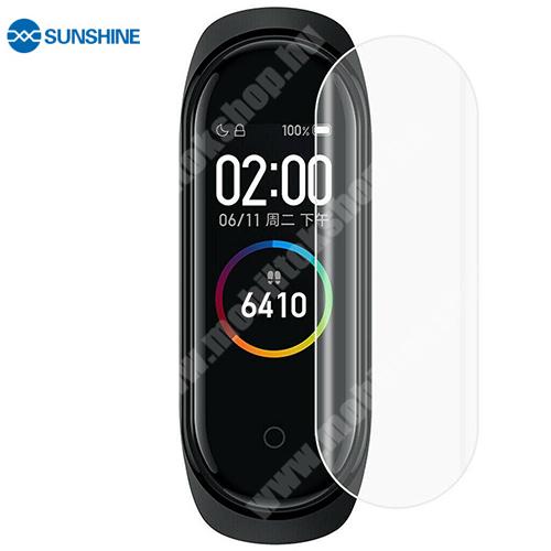 SUNSHINE Hydrogel TPU okosóra képernyővédő fólia - Ultra Clear, ÖNREGENERÁLÓ! - 1db, a teljes képernyőt védi - Xiaomi Mi Band 5 - GYÁRI
