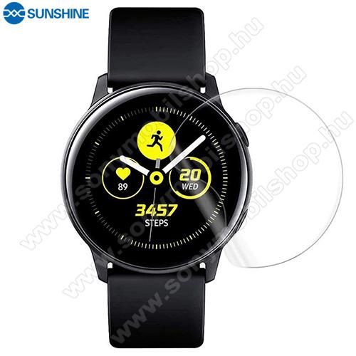SUNSHINE Hydrogel TPU okosóra képernyővédő fólia - Ultra Clear, ÖNREGENERÁLÓ! - 1db, a teljes képernyőt védi -  SAMSUNG Galaxy Watch Active2 40mm - GYÁRI