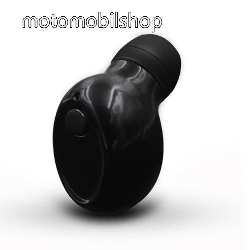 SUPER MINI BLUETOOTH HEADSET - v4.1, mágneses töltőcsatlakozás, fülbe illeszkedő kialakítás - FEKETE