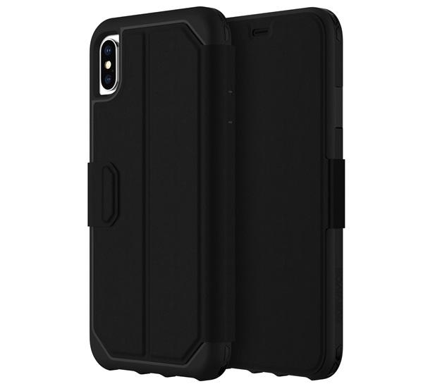 SURVIVOR CLEAR WALLET notesz / mappa tok (FLIP, 1.2 méterig ütésálló, oldalra nyíló, bankkártya tartó) FEKETE - GIP-021-BLK - APPLE iPhone XS Max 6.5 - GYÁRI