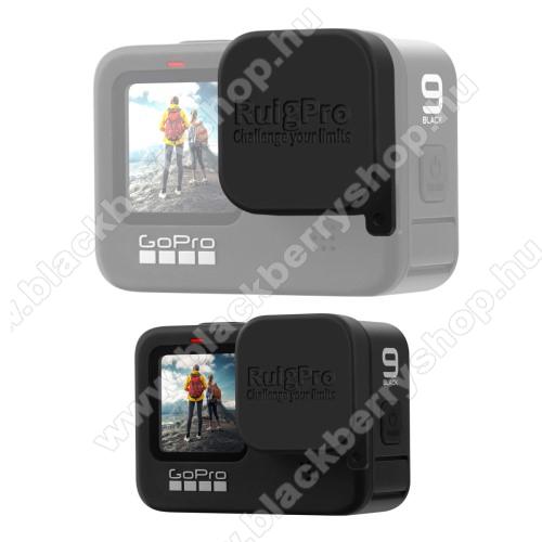Szilikon lencsevédő védő kupak GoPro Hero 9 Black-hez - FEKETE