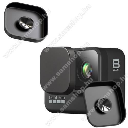 Szilikon lencsevédő védő kupak GoPro Hero 8-hoz - 1db, beépített tapadókorong - FEKETE