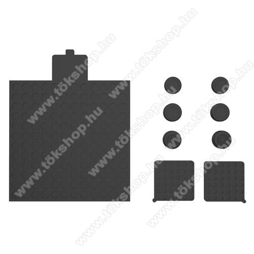Szilikon porvédő / Analóg kar védő szilikon kupak Xbox Series X-hez - 6db szilikon kupak, 3db porvédő - FEKETE