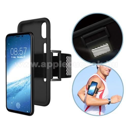 Szilikon v�d? tok / h�tlap - Sport karp�nt - FEKETE - APPLE iPhone X / APPLE iPhone XS