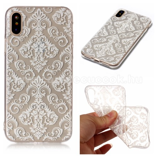 Szilikon v�d? tok / h�tlap - VIR�G MINT�S - �TL�TSZ� - APPLE iPhone X / APPLE iPhone XS