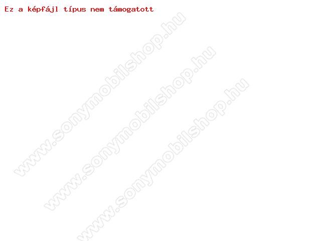 Szilikon védő keret - BUMPER - 0,7 mm vékony! - ÁTLÁTSZÓ / NARANCS - APPLE iPhone 6