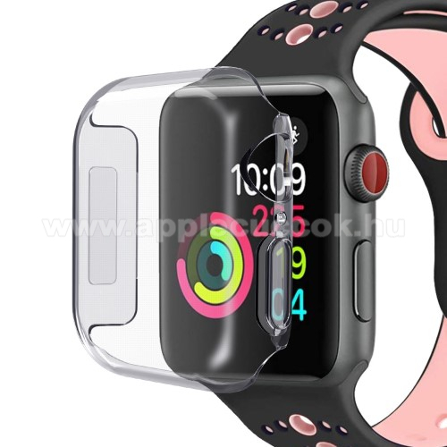 APPLE Watch Series 4 40mm Szilikon védő tok - ÁTLÁTSZÓ - APPLE Watch Series 4 40mm