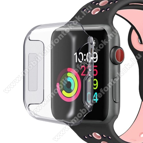 Szilikon védő tok - ÁTLÁTSZÓ - APPLE Watch Series 4 40mm
