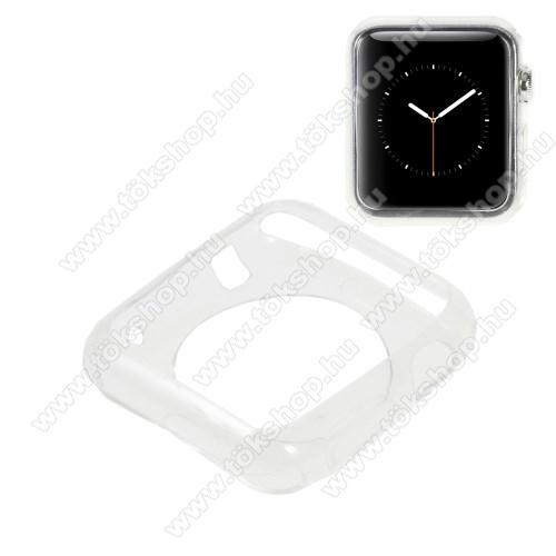 Szilikon védő tok - ÁTLÁTSZÓ - Apple Watch 38mm