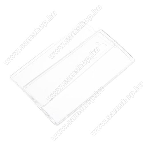 Szilikon védő tok - előlap és hátlap védő is! - FÉNYES - ÁTLÁTSZÓ - ujjlenyomat támogatás nélkül! - SAMSUNG SM-N970F Galaxy Note10 / SAMSUNG SM-N971U Galaxy Note10 5G