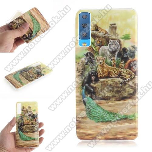 Szilikon védő tok / hátlap - ÁLLATOS MINTÁS - SAMSUNG SM-A750F Galaxy A7 (2018)