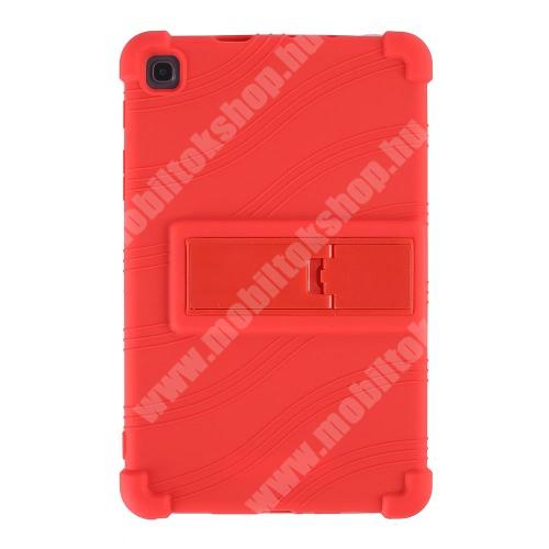 Szilikon védő tok / hátlap - asztali tartó funkciós, erősített sarkok - ERŐS VÉDELEM! - PIROS - SAMSUNG Galaxy Tab A7 Lite (SM-T220 / SM-T225)