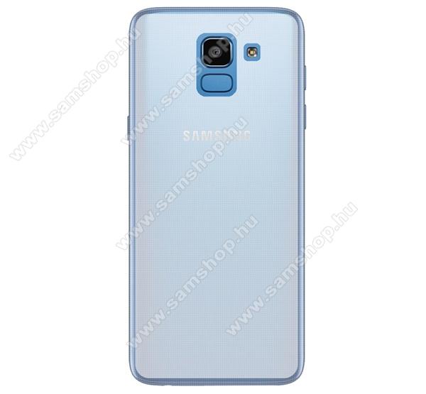 Szilikon védő tok / hátlap - ÁTLÁTSZÓ - fényes keret, matt hátlap - SAMSUNG SM-J600F Galaxy J6 (2018)