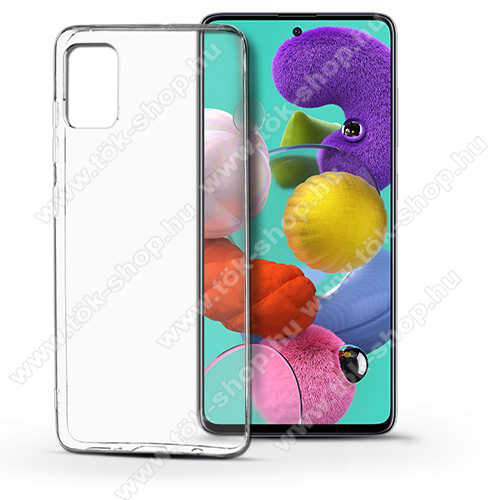 Szilikon védő tok / hátlap - ÁTLÁTSZÓ - SAMSUNG SM-A515F Galaxy A51