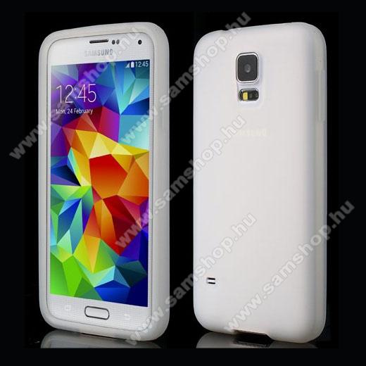 Szilikon védő tok / hátlap - ÁTLÁTSZÓ - SAMSUNG SM-G900F Galaxy S5