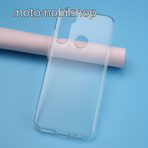 Szilikon védő tok / hátlap - ÁTLÁTSZÓ - Xiaomi Redmi Note 8T