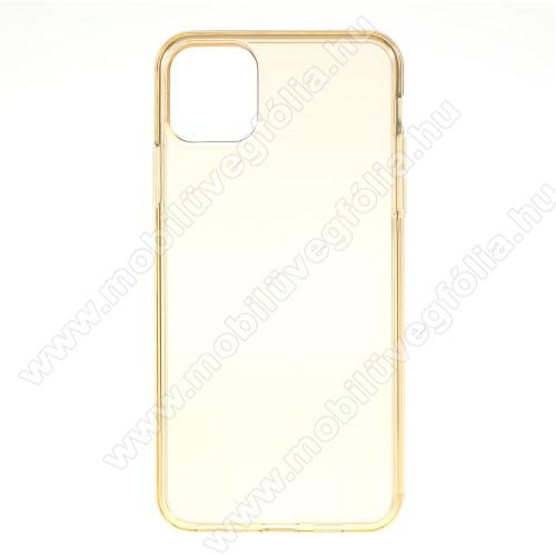 Szilikon védő tok / hátlap - ÁTTETSZŐ SÁRGA - APPLE iPhone 11 Pro