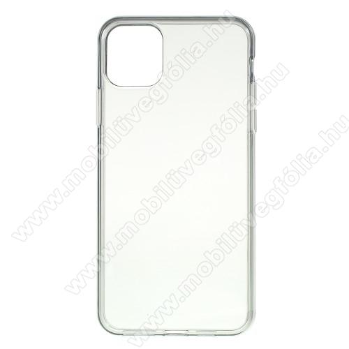 Szilikon védő tok / hátlap - ÁTTETSZŐ SZÜRKE - APPLE iPhone 11
