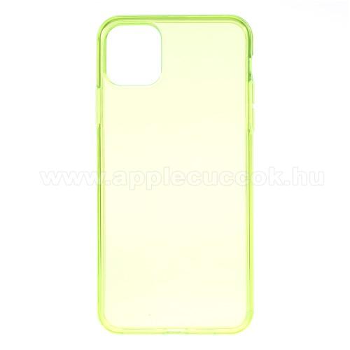 Szilikon védő tok / hátlap - ÁTTETSZŐ ZÖLD - APPLE iPhone 11 Pro