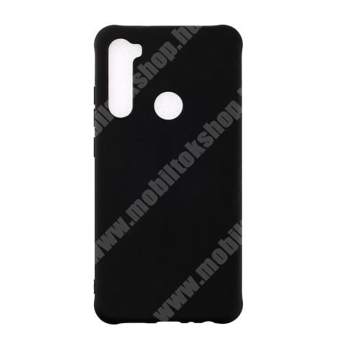 Szilikon védő tok / hátlap - ERŐSÍTETT SARKOKKAL - FEKETE - Xiaomi Redmi Note 8