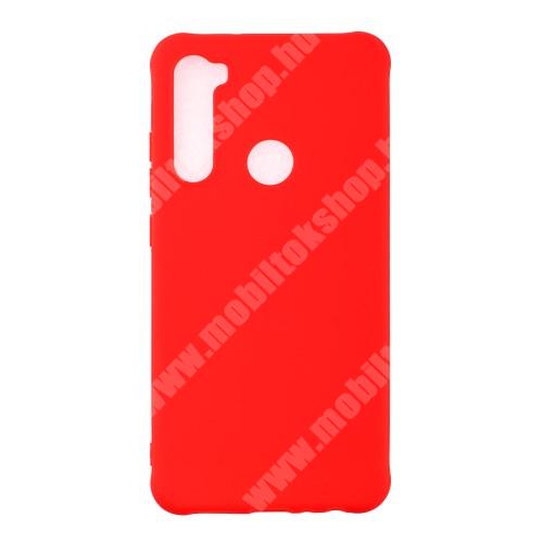 Szilikon védő tok / hátlap - ERŐSÍTETT SARKOKKAL - PIROS - Xiaomi Redmi Note 8