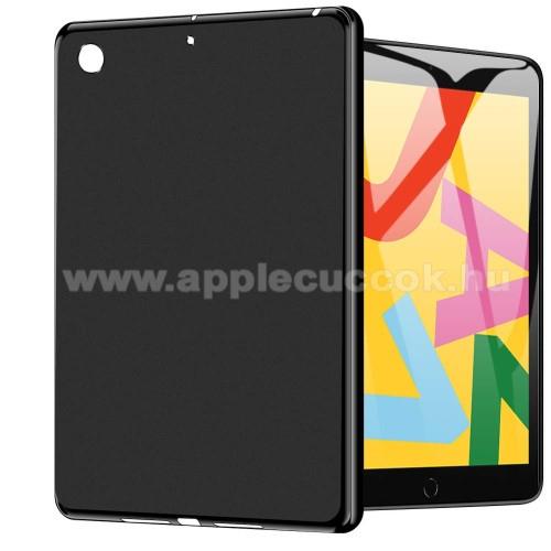 Szilikon védő tok / hátlap - FEKETE - APPLE iPad 10.2 (7th Generation)