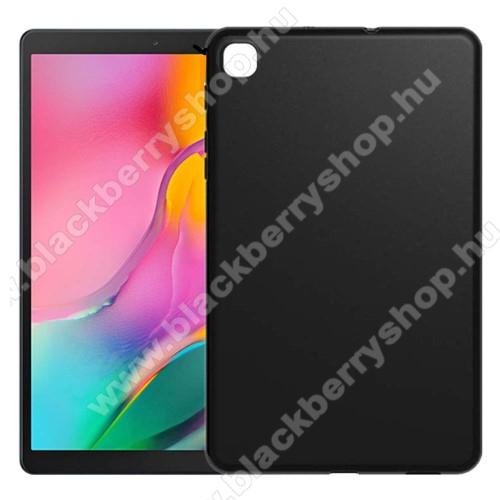 Szilikon védő tok / hátlap - FEKETE - SAMSUNG Galaxy Tab A 10.1 Wi-Fi (2019) (SM-T510) / SAMSUNG Galaxy Tab A 10.1 LTE (2019) (SM-T515)