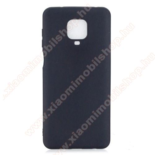 Szilikon védő tok / hátlap - FEKETE - Xiaomi Redmi Note 9S / Redmi Note 9 Pro / Redmi Note 9 Pro Max / Poco M2 Pro