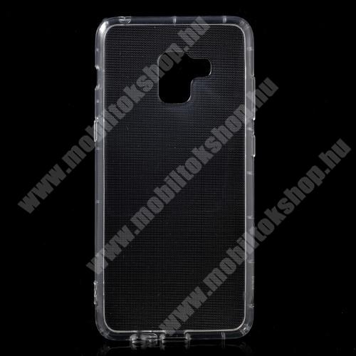 Szilikon védő tok / hátlap - FÉNYES - ÁTLÁTSZÓ - SAMSUNG SM-A730F Galaxy A8 Plus (2018)
