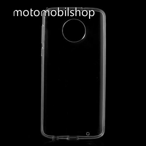 MOTOROLA Moto G6 Plus (2018) Szilikon védő tok / hátlap - FÉNYES - ÁTLÁTSZÓ - Motorola Moto G6 Plus (2018)