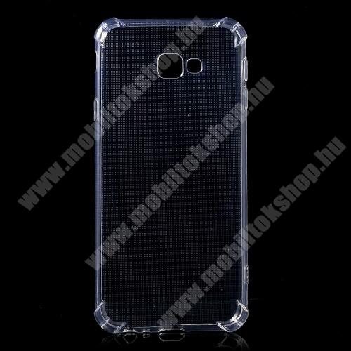 Szilikon védő tok / hátlap - FÉNYES - ÁTLÁTSZÓ - erősített sarkok - SAMSUNG SM-J415F Galaxy J4+