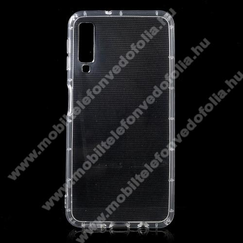SAMSUNG SM-A750F Galaxy A7 (2018)Szilikon védő tok / hátlap - FÉNYES - ÁTLÁTSZÓ - SAMSUNG SM-A750F Galaxy A7 (2018)