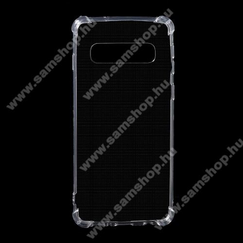 SAMSUNG SM-G973F Galaxy S10Szilikon védő tok / hátlap - FÉNYES - ÁTLÁTSZÓ - erősített sarkok - SAMSUNG SM-G973F Galaxy S10