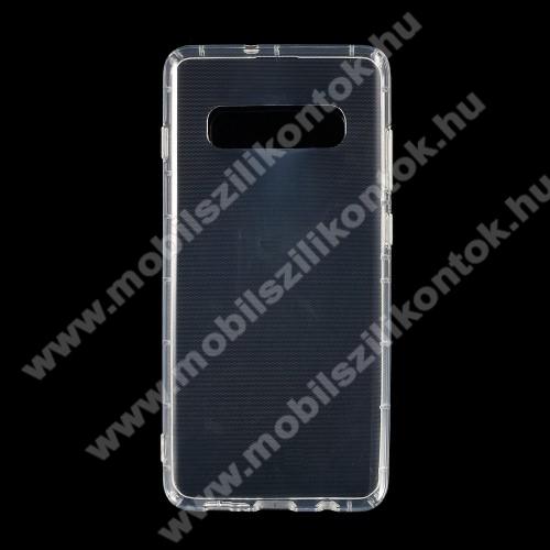 Szilikon védő tok / hátlap - FÉNYES - ÁTLÁTSZÓ - SAMSUNG SM-G975F Galaxy S10+