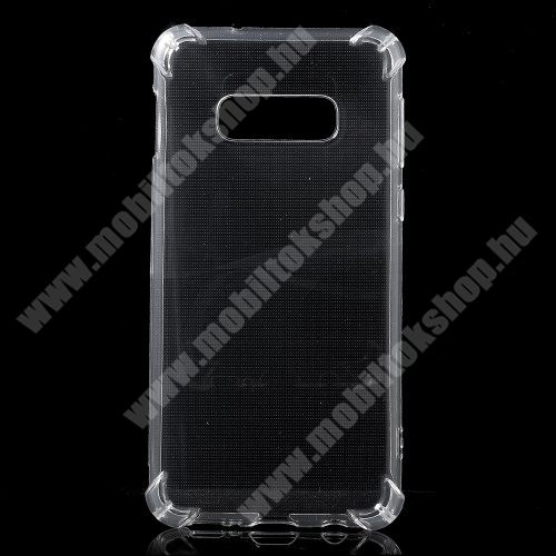 Szilikon védő tok / hátlap - FÉNYES - ÁTLÁTSZÓ - erősített sarkok - SAMSUNG SM-G970F Galaxy S10e