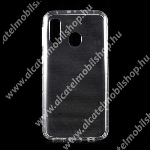 Szilikon védő tok / hátlap - FÉNYES - ÁTLÁTSZÓ - SAMSUNG SM-A405F Galaxy A40