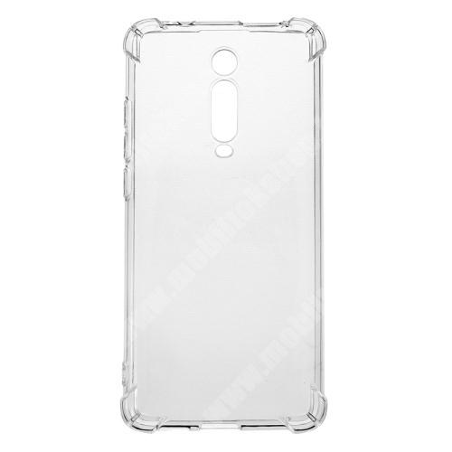 Szilikon védő tok / hátlap - FÉNYES - ÁTLÁTSZÓ - erősített sarkok - Xiaomi Redmi K20 / Xiaomi Redmi K20 Pro / Xiaomi Mi 9T Pro / Xiaomi Mi 9T