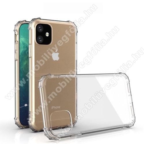 Szilikon védő tok / hátlap - FÉNYES - ÁTLÁTSZÓ - erősített sarkok - APPLE iPhone 11
