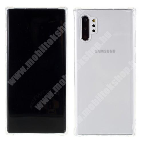 Szilikon védő tok / hátlap - FÉNYES - ÁTLÁTSZÓ - erősített sarkok - SAMSUNG SM-N975F Galaxy Note10+ / SAMSUNG SM-N976F Galaxy Note10+ 5G
