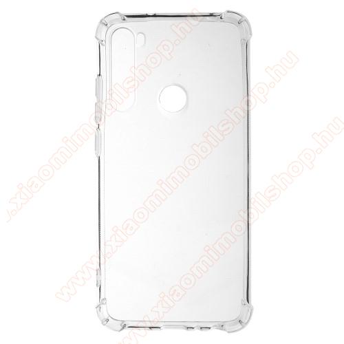 Xiaomi Redmi Note 8Szilikon védő tok / hátlap - FÉNYES - ÁTLÁTSZÓ - Erősített sarkok - Xiaomi Redmi Note 8