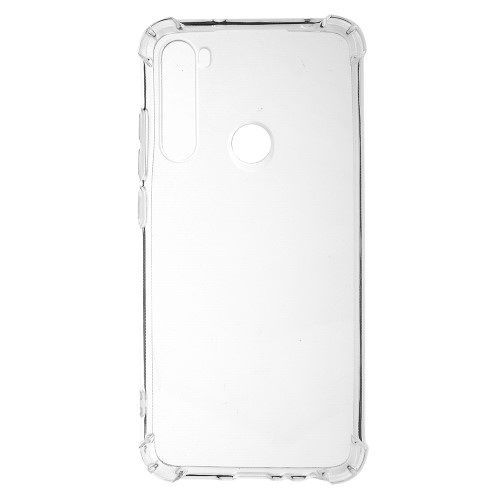 Szilikon védő tok / hátlap - FÉNYES - ÁTLÁTSZÓ - Erősített sarkok - Xiaomi Redmi Note 8