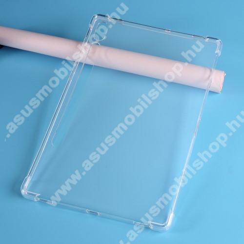 Szilikon védő tok / hátlap - FÉNYES - ÁTLÁTSZÓ - erősített sarkok, ERŐS VÉDELEM! - SAMSUNG Galaxy Tab S6 Wi-Fi (SM-T860) / SAMSUNG Galaxy Tab S6 LTE (SM-T865)